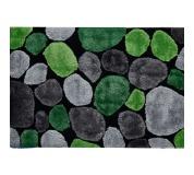 Koberec, zelená / šedá / černá, 140x200, PEBBLE TYP 1