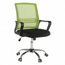 Kancelářská židle, síťovina zelená / látka černá, APOLO