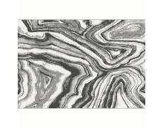 Koberec, bílá/černá/vzor, 100x150, SINAN