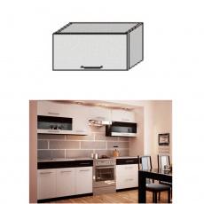 Horní skříňka, bílá / wenge, JURA NEW B OG-60