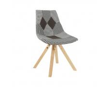 Designová stolička, látka patchwork, PEPITO NEW TYP 10