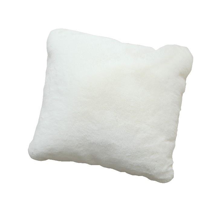 Polštář, bílá, 45x45, RABITA TYP 7