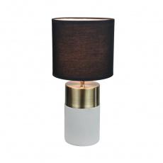 Stolní lampa, světle / černá, QENNY TYP 20