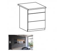 Spodní skříňka, dub artisan / šedý mat, s PUSH UP, LANGEN D60S3