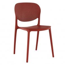 Stohovatelná, židle, červená, FEDRA