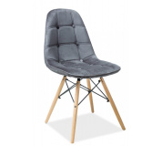 Jídelní židle AXEL III aksamit šedá