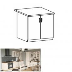 Spodní skříňka, bílá/sosna skandinávská, ROYAL D80