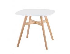 Jídelní stůl, bílá/přírodní, DEJAN NEW