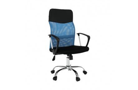Kancelářské křeslo, modrá / černá, TC3-973M 2 NEW