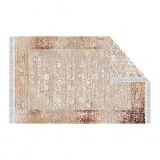 Oboustranný koberec, béžová/vzor, 80x150, NESRIN