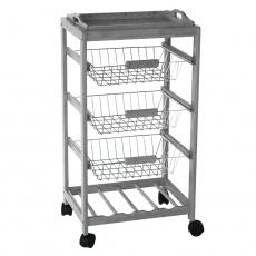 Servírovací stolek, šedá, HURIT