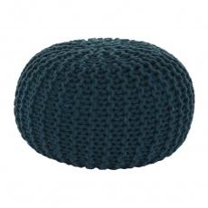 Pletený taburet, bavlna / petrolejová, GOBI TYP 2