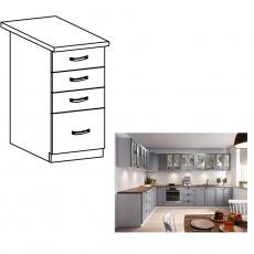 Spodní skříňka s šuplíky, šedá matná / bílá, LAYLA D40S4