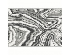 Koberec, bílá/černá/vzor, 57x90, SINAN