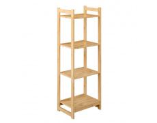 4-poličkový regál, přírodní bambus, IMPEROR TYP 2