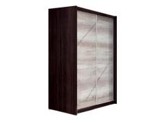 Věšáková skříň s posuvnými dveřmi, dub sonoma / čokoláda, FLAMENGO