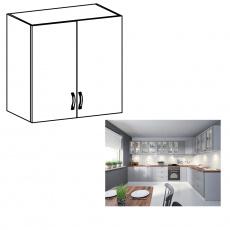 Horní skříňka, bílá / šedá matná, LAYLA G80