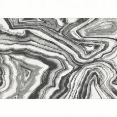 Koberec, bílá/černá/vzor, 133x190, SINAN