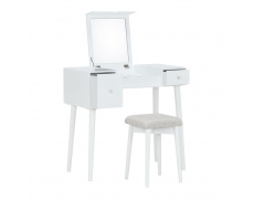 Toaletní stolek, toaletka, bílá/hnědá, MARVEL