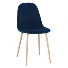 Židle, modrá Velvet látka / buk, LEGA