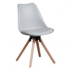Stylová otočná židle, světlešedá, ETOSA