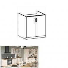 Spodní drezová skříňka, bílá/sosna skandinávská, ROYAL D80Z
