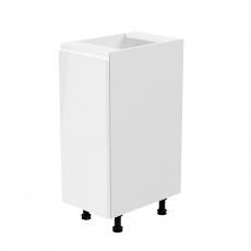 Spodní skříňka, bílá / bílá extra vysoký lesk, levá, AURORA D30
