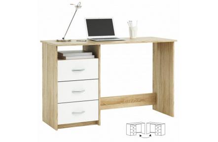 PC stůl, dub sonoma / bílá, LARISTOTE