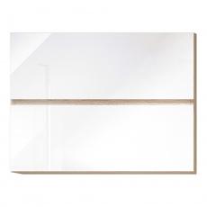 Horní skříňka G 80 U, vysoký bílý lesk/dub sonoma, LINE