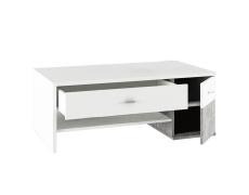 Konferenční stolek, bílá/beton, DILANO