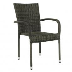 Zahradní stohovatelná židle, šedá, VIPANA NEW