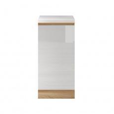 Dolní skříňka D 40, vysoký bílý lesk/dub sonoma, LINE