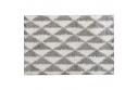 Koberec, krémově / šedá, geometrický vzor, 67x120, PIXEL