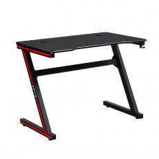 Herní stůl / počítačový stůl, černá / červená, MACKENZIE 100cm