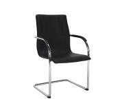Židle, ekokůže černá, MI-01