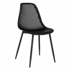 Jídelní židle, černá, TEGRA TYP 2