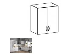 Horní dvoudveřová skříňka G60, bílá / sosna andersen, PROVANCE