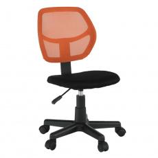 Otočná židle, oranžová / černá, MESH
