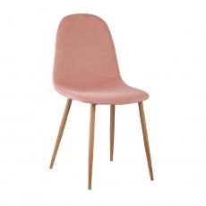 Židle, růžová Velvet látka / buk, LEGA