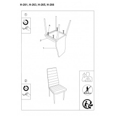 Jídelní židle H261 šedá