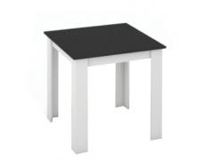 Jídelní stůl, bílá / černá, 80x80, KRAZ
