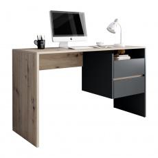 PC stůl, dub artisan/grafit-antracit, TULIO