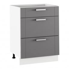 Spodní skříňka, tmavě šedá/bílá, JULIA TYP 57