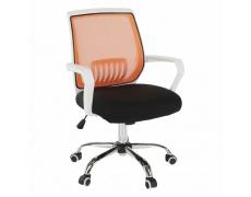 Kancelářské křeslo s černým sedákem, oranžová opěrka, LANCELOT