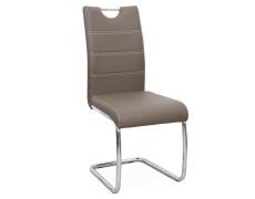 Jídelní židle, ekokůže hnědá / chrom, ABIRA NEW | Tempo Kondela