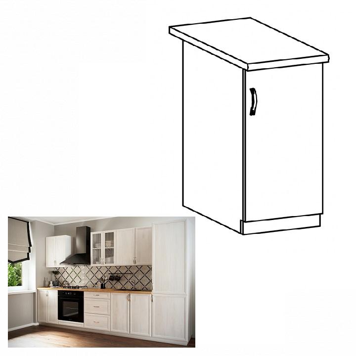 Spodní skříňka D30, pravá, bíla/sosna Andersen, SICILIA