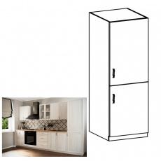 Skříňka na vestavěnou lednici D60ZL, pravá, bíla/sosna Andersen, SICILIA