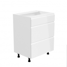 Spodní skříňka, bílá / bílá extra vysoký lesk, AURORA D60S3