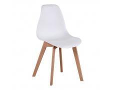 Jídelní židle, bílá/buk, AYNA