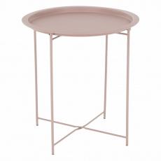 Příruční stolek s odnímatelnou tácem, nude růžová, RENDER